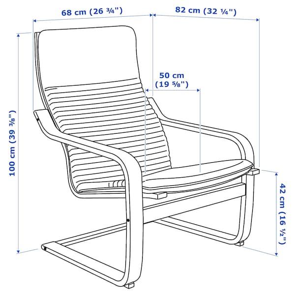 波昂 单人沙发/扶手椅, 褐色/基尼萨 淡米色