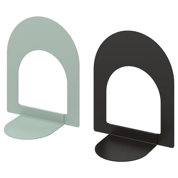 波特纳 书挡 浅灰绿/煤黑色 13 厘米 15 厘米 2 件