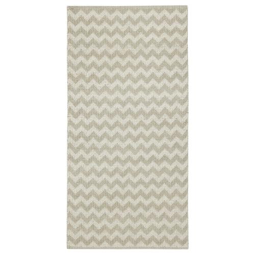 布雷德 平织地毯 Z字图案 米黄色 150 厘米 75 厘米 1.13 平方米