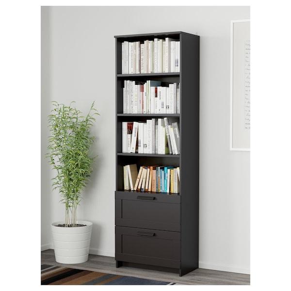 BRIMNES 百灵 书架, 黑色, 60x190 厘米