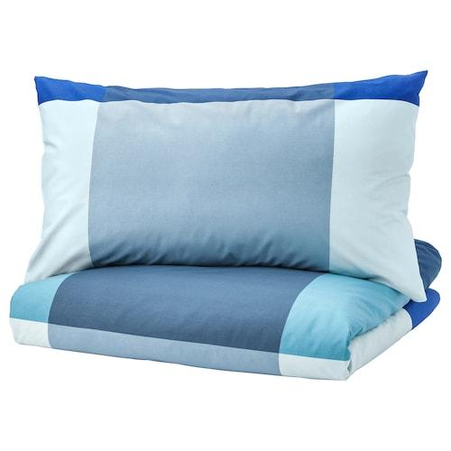 布朗瑞拉 被套和2个枕套 蓝色/灰色 152 Inch² 2 件 230 厘米 200 厘米 50 厘米 80 厘米