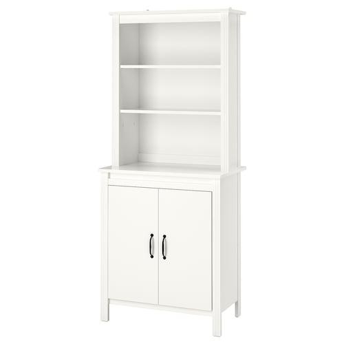 布鲁萨里 高柜带门, 白色, 80x190 厘米
