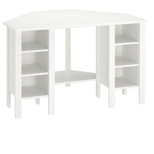 布鲁萨里 转角桌, 白色, 120x73 厘米