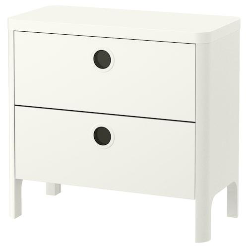 布松纳 两斗抽屉柜, 白色, 80x76 厘米