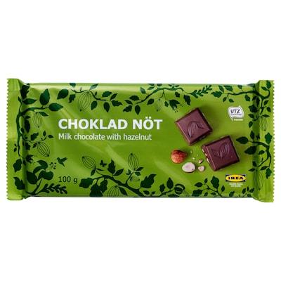 CHOKLAD NÖT 榛仁牛奶味巧克力, UTZ认证