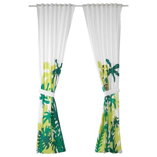 尤恩格斯库格 窗帘附系带,2幅 猴子/绿色 250 厘米 120 厘米