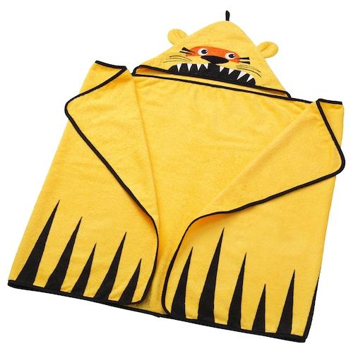 尤恩格斯库格 浴巾带有兜帽 虎/黄色 140 厘米 70 厘米