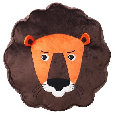 DJUNGELSKOG 尤恩格斯库格 靠垫, 狮子/褐色