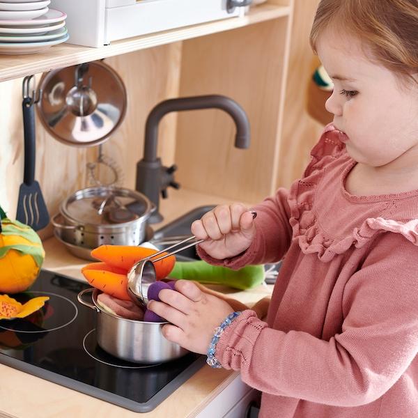 杜克迪 玩具锅具,五件套 不锈钢色