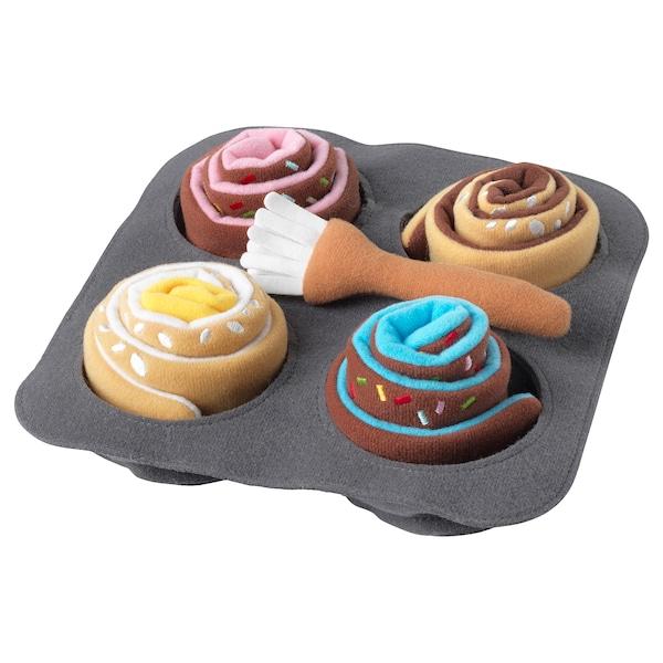 杜克迪 面包玩具,6件套 肉桂/小面包