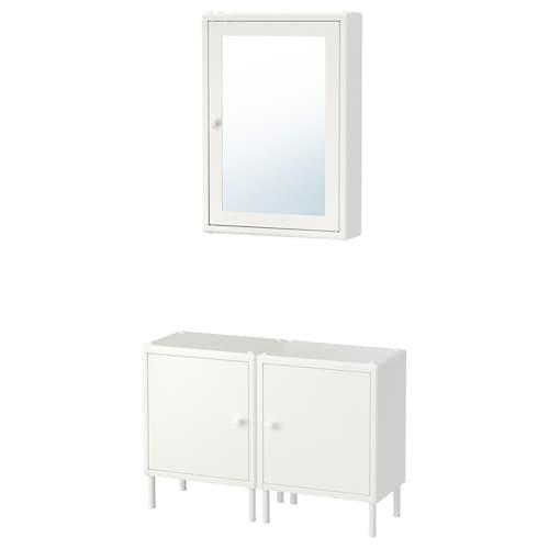 迪南 镜柜带2底柜 白色 80 厘米 27 厘米 124 厘米