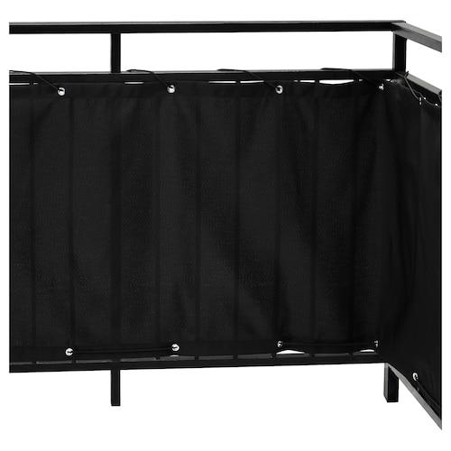 黛林 阳台屏风 黑色 250 厘米 80 厘米