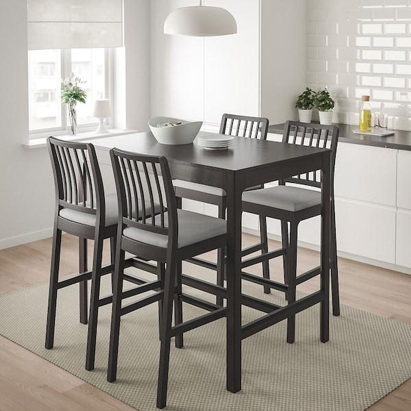伊克多兰 / 伊克多兰 吧桌和4个吧凳 深褐色/欧斯塔 淡灰色