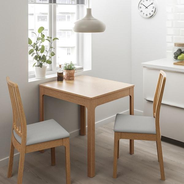 伊克多兰 / 伊克多兰 一桌二椅 橡木/欧斯塔 淡灰色 80 厘米 120 厘米