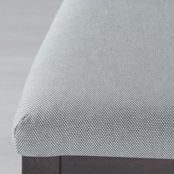 伊克多兰 / 伊克多兰 一桌二椅带长凳 深褐色/欧斯塔 淡灰色 120 厘米 180 厘米