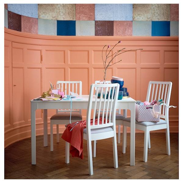 伊克多兰 伸缩型餐桌 白色 120 厘米 180 厘米 80 厘米 75 厘米