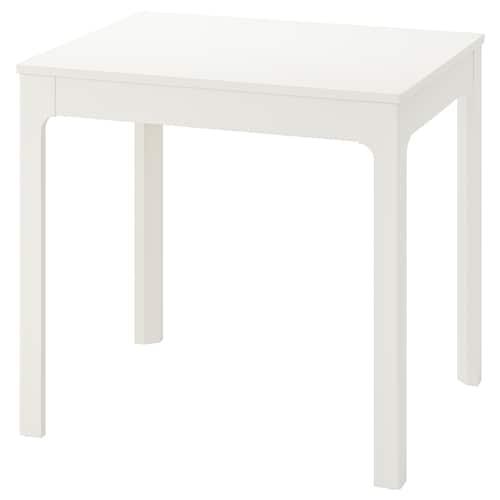 伊克多兰 伸缩型餐桌 白色 80 厘米 120 厘米 70 厘米 75 厘米