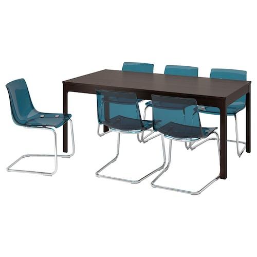 IKEA 伊克多兰 / 托亚斯 桌子和6把椅子