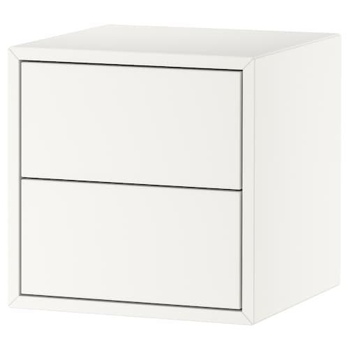 伊克特 储物柜含2件抽屉 白色 35 厘米 35 厘米 35 厘米 26 厘米 27 厘米 1.50 公斤