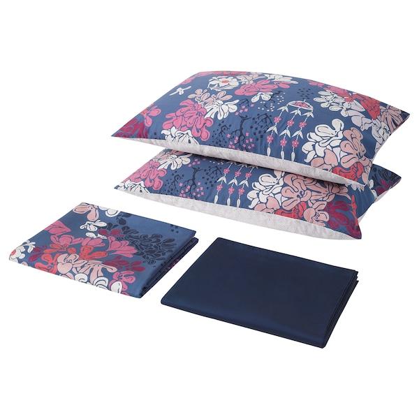 ELSEBY 埃勒塞比 床上用品4件套, 蓝色/多花