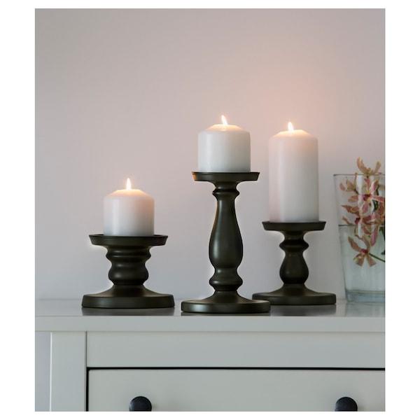 埃尔萨塔 阔形蜡烛台 灰色 21 厘米