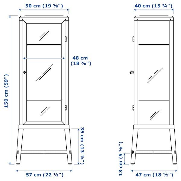法布利克 玻璃门柜 深灰色 57 厘米 47 厘米 150 厘米 10 公斤