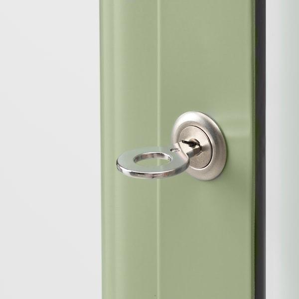 法布利克 玻璃门柜 淡灰绿色 57 厘米 47 厘米 150 厘米 10 公斤