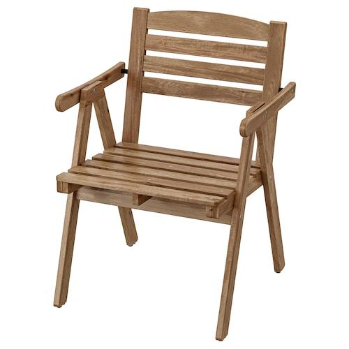 福霍曼 椅子带扶手,户外 着浅褐色漆 110 公斤 57 厘米 55 厘米 80 厘米 50 厘米 42 厘米 42 厘米