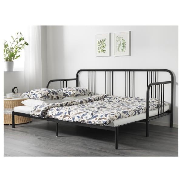 费斯多 坐卧两用床框架, 黑色, 80x200 厘米