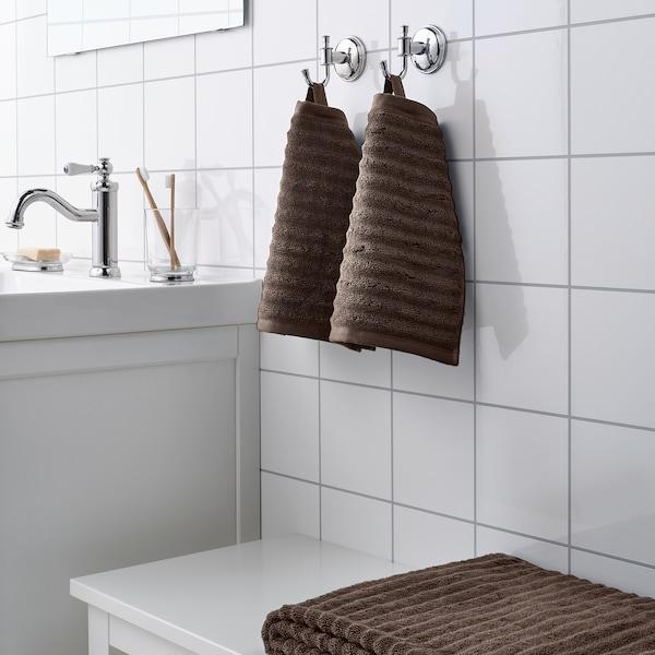 FLODALEN 福鲁朵恩 小方巾, 深褐色, 30x30 厘米