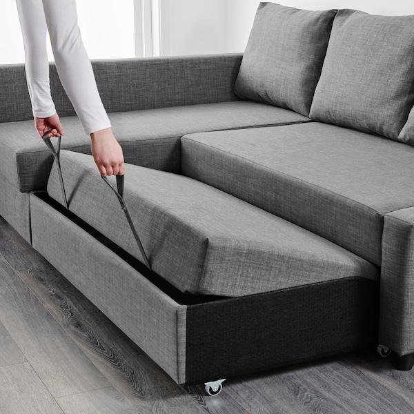 FRIHETEN 弗瑞顿 转角沙发床带储物, 斯科特伯 深灰色