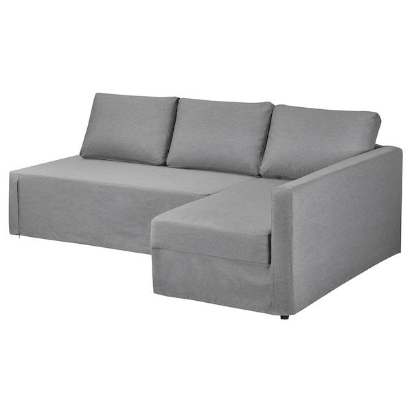 弗瑞顿 转角沙发保护套,右 威索尔 灰色/斯科特伯 蓝色