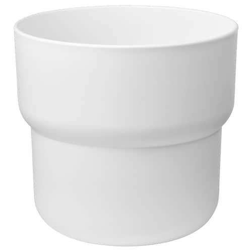 福恋里 装饰用花盆, 室内/户外 白色, 24 厘米