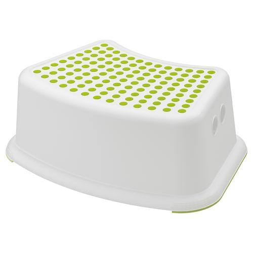 福思迪 儿童防滑凳, 白色/绿色