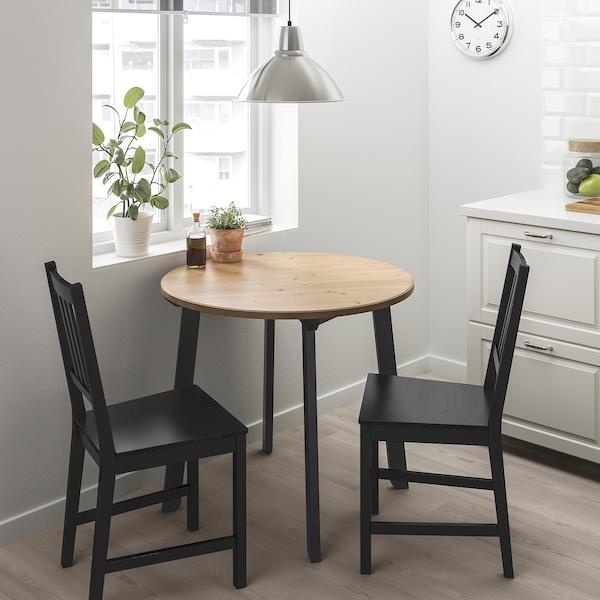 冈拉瑞德 / 斯第芬 一桌二椅 浅仿古色/黑褐色 85 厘米 75 厘米