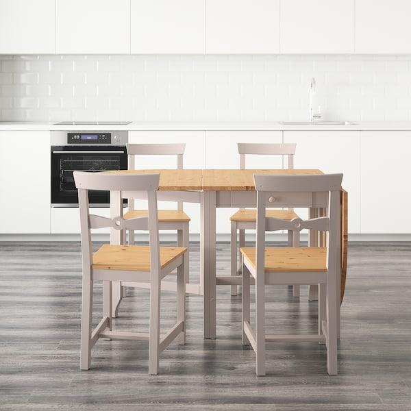 GAMLEBY 加姆勒比 一桌四椅, 浅仿古色/灰色, 67 厘米