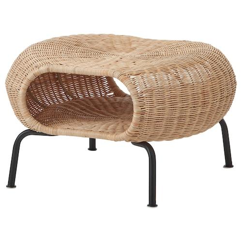 加姆胡特 储物脚凳 藤条/煤黑色 36 厘米 62 厘米 14 厘米