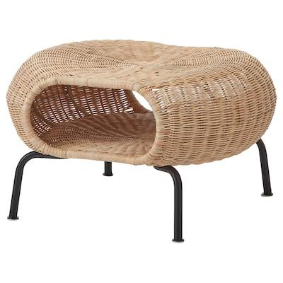 GAMLEHULT 加姆胡特 储物脚凳, 藤条/煤黑色