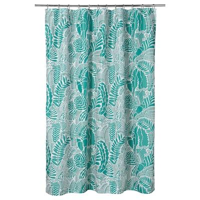 GATKAMOMILL 佳卡默米 浴帘, 天蓝色/白色, 180x200 厘米