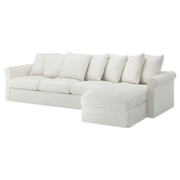 格罗恩里德 四人沙发, 带贵妃椅/格雷伯 白色