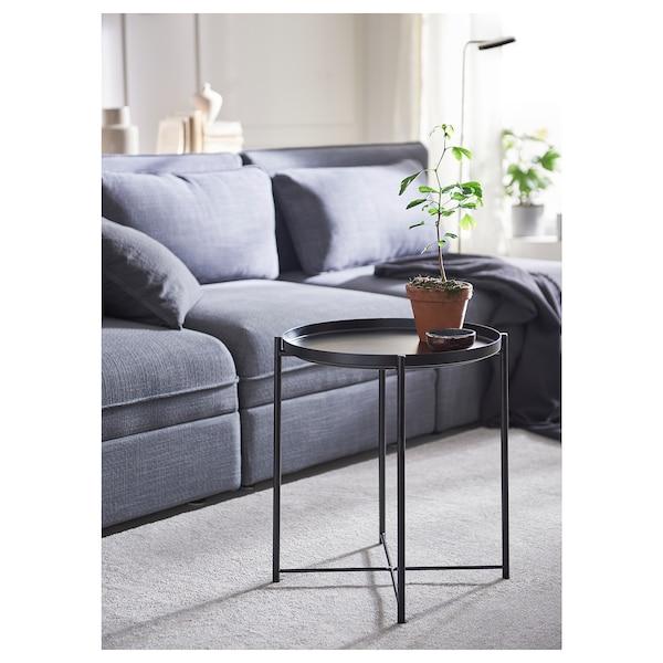 GLADOM 格拉登 托盘桌, 黑色, 45x53 厘米