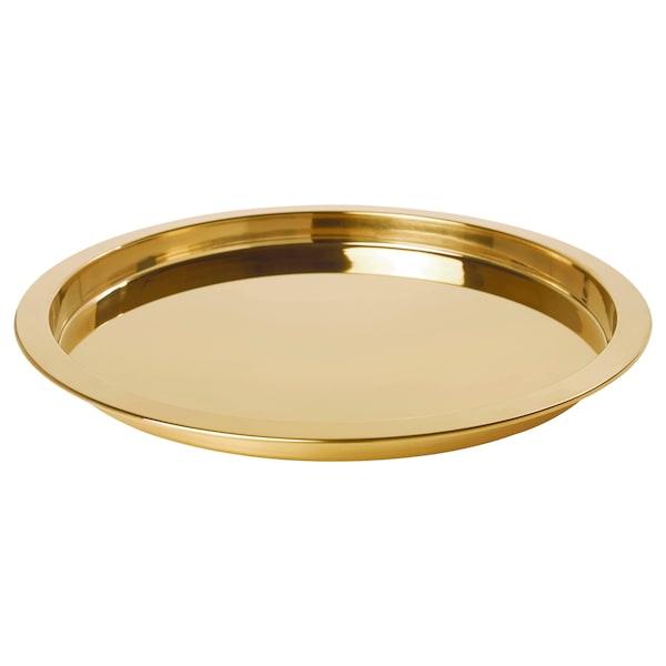 GLATTIS 格拉蒂斯 托盘, 黄铜色, 38 厘米