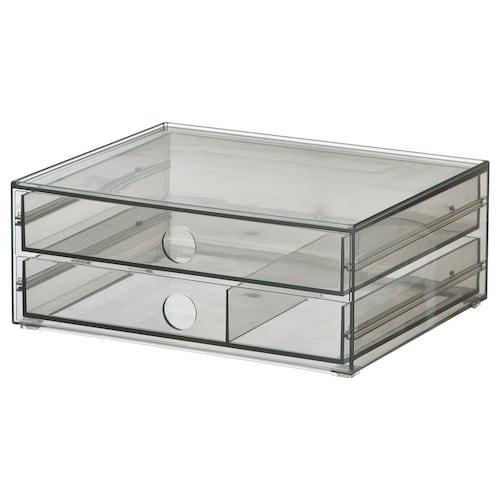 古德莫 两斗储物盒 烟青色 32 厘米 28 厘米 10 厘米