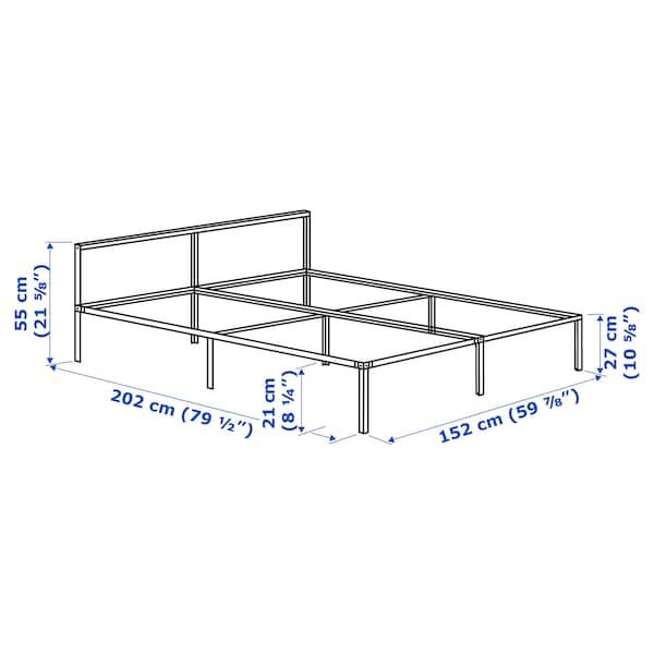 格里姆斯布 床架 白色/鲁瑞 202 厘米 152 厘米 55 厘米 27 厘米 55 厘米 21 厘米 200 厘米 150 厘米