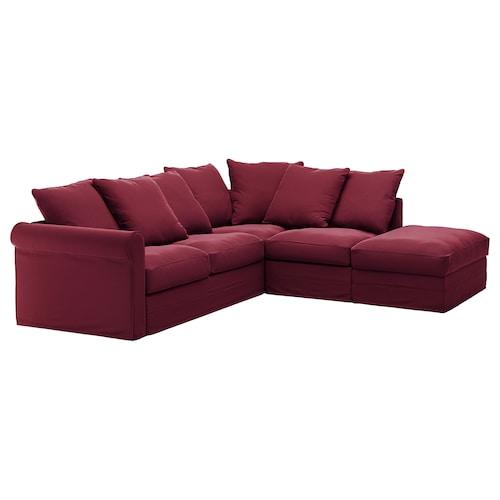 格罗恩里德 4人转角沙发 单边开放式/利恩金 深红色 104 厘米 98 厘米 235 厘米 252 厘米 7 厘米 18 厘米 68 厘米 60 厘米 49 厘米