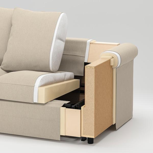 GRÖNLID 格罗恩里德 三人沙发, 带贵妃椅/斯波达 深灰色