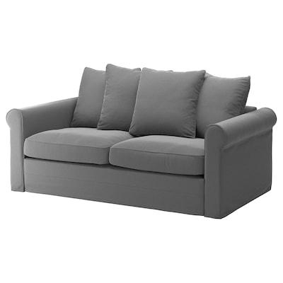 GRÖNLID 格罗恩里德 双人沙发床, 利恩金 中灰色