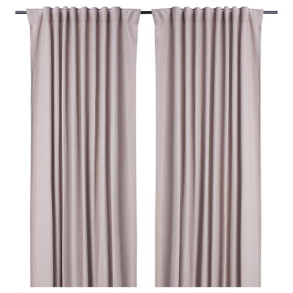 GULRESEDA 古列达 窗帘,2幅, 粉红色, 145x250 厘米