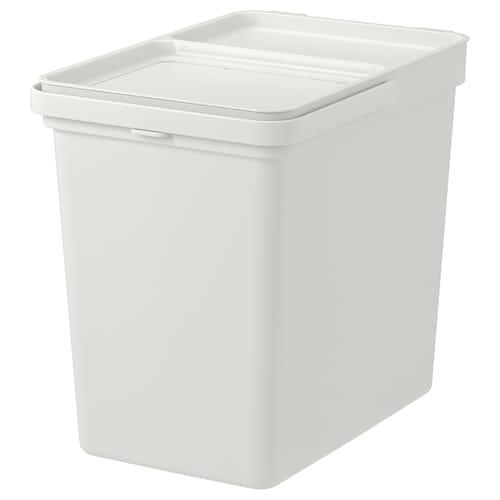 哈尔巴 附盖垃圾桶, 淡灰色, 22 公升