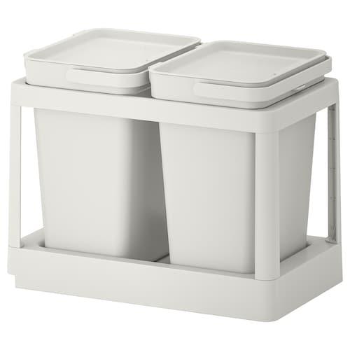 哈尔巴 垃圾分类解决方案, 外拉式/淡灰色, 20 公升